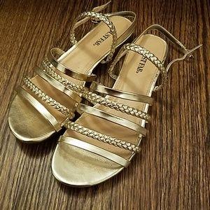 Gold Braided Sandals